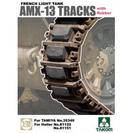 2061 1/35 French Light Tank AMX-13 Tracks with Rubber