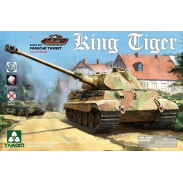 2074S 1/35 King Tiger Sd.Kfz.182 PORSCHE TURRET w/New Track Parts