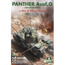 2121 1/35 WWII German medium Tank Panther Ausf.G late production w/ IR &Air Defense Armour