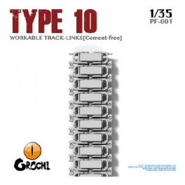 PF-001 	1/35 JGSDF Tape 10 Tank Cement-free Workable Track